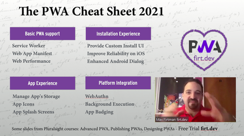 PWA Cheat Sheet 2021
